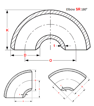 Butt Weld Elbow Dimensions 106