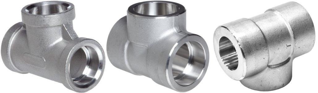 Socket weld tee forged steel pipe fittings