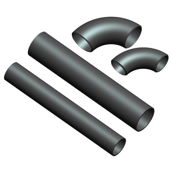 Steel pipe fittings material and production