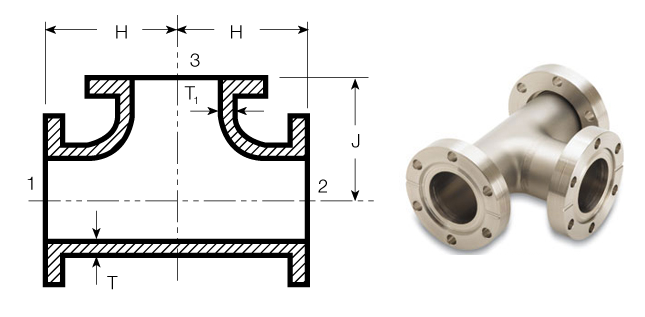 Flanged Pipe Fittings : Tees of steel pipe fittings blind flange
